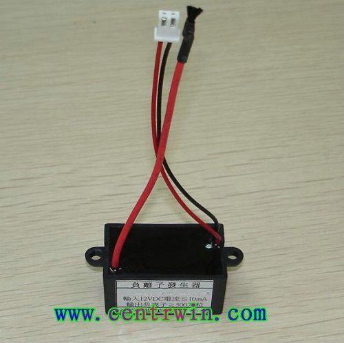 负离子发生器将低压通过升压电路变为直流高压
