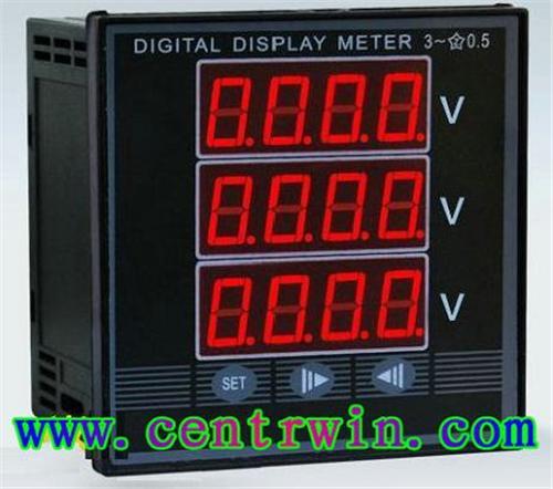 改产品集电流表,电压表,功率表,功率因数表,电度表为一体的综合电量